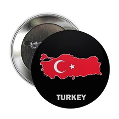 "Flag Map of Turkey 2.25"" Button"