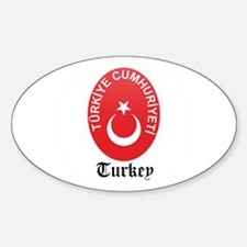Turk Coat of Arms Seal Oval Decal