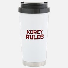 korey rules Stainless Steel Travel Mug