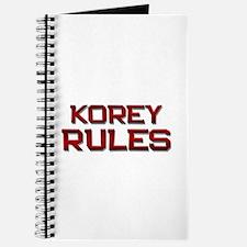 korey rules Journal