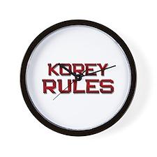 korey rules Wall Clock