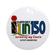 I Support 1 In 150 & My Cousin Ornament (Round)