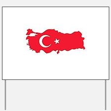 Turkey Flag Map Yard Sign