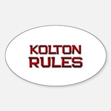 kolton rules Oval Decal