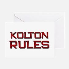 kolton rules Greeting Card