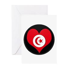 I love Tunisia Flag Greeting Card