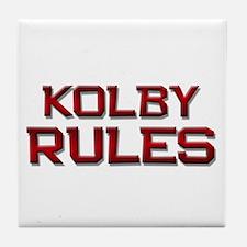 kolby rules Tile Coaster