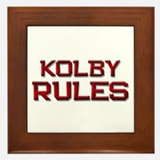 kolby rules Framed Tile