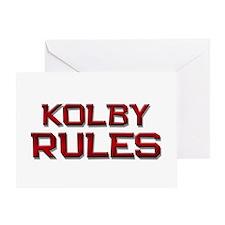 kolby rules Greeting Card