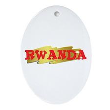Rwanda Goodies Oval Ornament