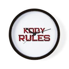 kody rules Wall Clock