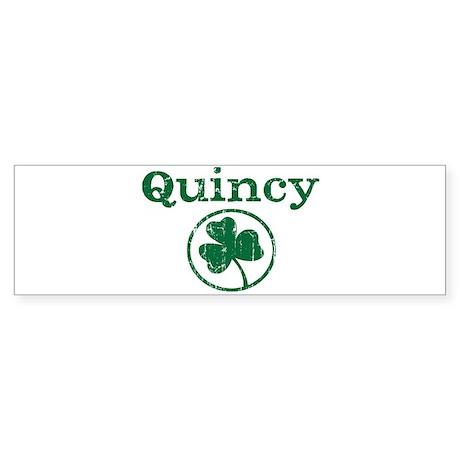 Quincy shamrock Bumper Sticker