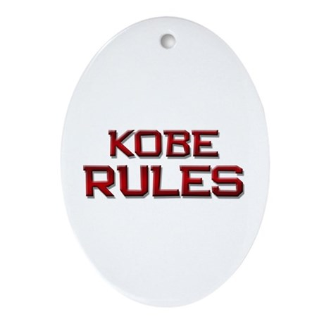 kobe rules Oval Ornament
