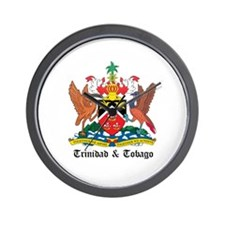 Trinidadian Coat of Arms Seal Wall Clock