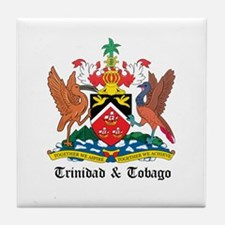 Trinidadian Coat of Arms Seal Tile Coaster