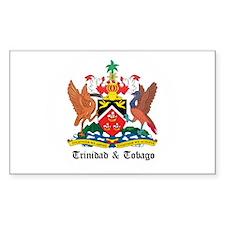 Trinidadian Coat of Arms Seal Rectangle Decal