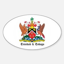 Trinidadian Coat of Arms Seal Oval Decal