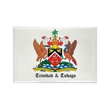 Trinidadian Coat of Arms Seal Rectangle Magnet