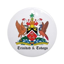 Trinidadian Coat of Arms Seal Ornament (Round)