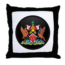 Coat of Arms of trinidad and Throw Pillow