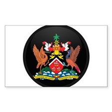 Coat of Arms of trinidad and Rectangle Decal