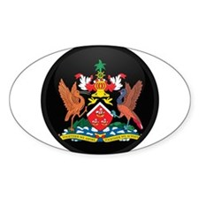 Coat of Arms of trinidad and Oval Decal
