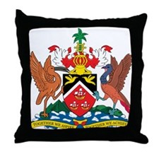 trinidad and tobago Coat o Throw Pillow