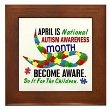 Autism Awareness Month 33.1 Framed Tile