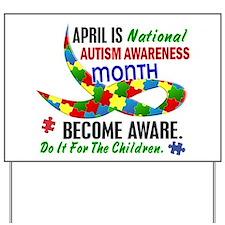 Autism Awareness Month 33.1 Yard Sign