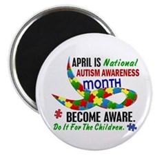 """Autism Awareness Month 33.1 2.25"""" Magnet (100 pack"""