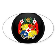 Coat of Arms of Tonga Oval Decal