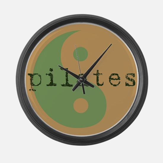 Pilates Yin Yang Large Wall Clock
