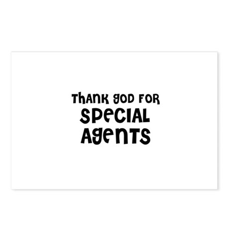 THANK GOD FOR SPECIAL AGENTS Postcards (Package o