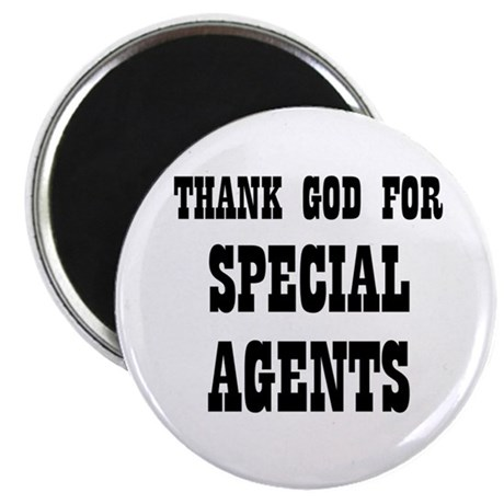 "THANK GOD FOR SPECIAL AGENTS 2.25"" Magnet (10 pac"
