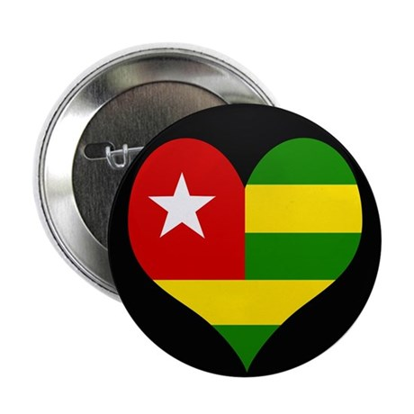 "I love togo Flag 2.25"" Button"