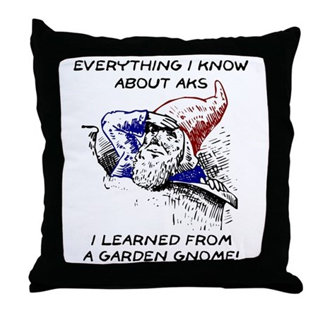 Aks & Garden Gnomes Throw Pillow