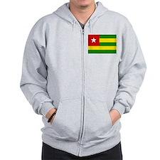 togo Flag Zip Hoodie