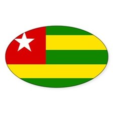 togo Flag Oval Decal