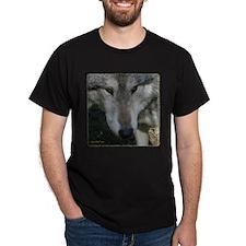 Wolf Portrait Black T-Shirt