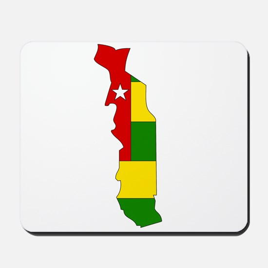 togo Flag Map Mousepad