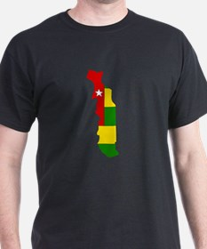 togo Flag Map T-Shirt