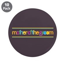 """Funky Type Groom's Mother 3.5"""" Button (10 pack)"""