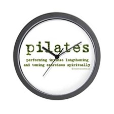 Pilates Spirit Wall Clock