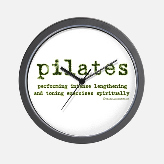 Pilates Spirit Wall Clock