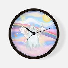 Clouds / (White) Cat Wall Clock