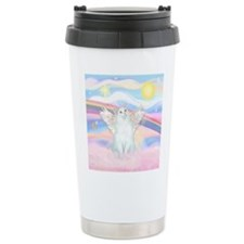 Clouds / (White) Cat Travel Coffee Mug