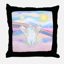 Clouds / (White) Cat Throw Pillow