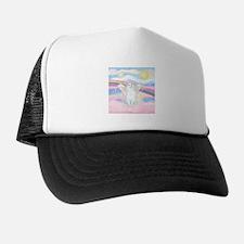 Clouds / (White) Cat Trucker Hat