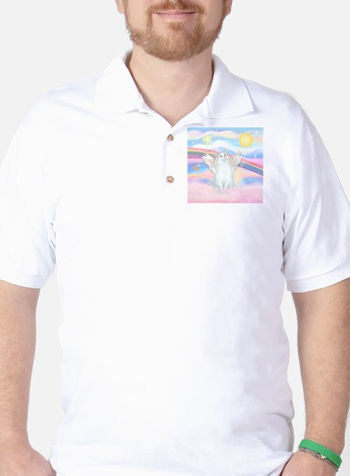 Clouds / (White) Cat T-Shirt