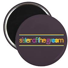 Funky Type Groom's Sister Magnet